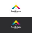 colorful house roof logo design vector image vector image