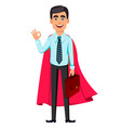 concept handsome confident business man vector image vector image
