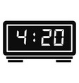 digital alarm clock icon simple style vector image