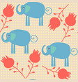 eleaphant seamless pattern it is located in vector image