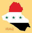 flag map of iraq vector image vector image