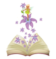 Flower Fairy Book vector image vector image