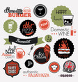 food set labels vector image