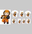 graphic astronaut on different types of vector image vector image