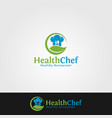 health chef logo template vector image vector image