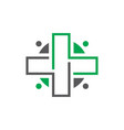 hospital logo vector image vector image