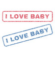 i love baby textile stamps vector image vector image