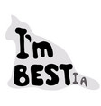 im best or im bestia vector image vector image