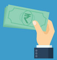 indian rupee banknote vector image vector image