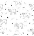 interesting seamless pattern with cute dogs breed vector image