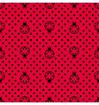 Ladybird with polka dots vector image vector image