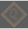 letter Q Fonts of Mesh vector image