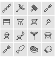 line barbecue icon set vector image vector image
