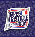 logo for bastille day vector image