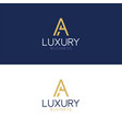 luxury logo a modern style vector image vector image