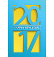 modern happy new year 2017 greeting card vector image vector image