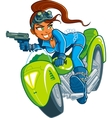 Motorcycle Spy Girl vector image vector image