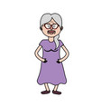 old woman with glasses and hairstyle vector image vector image