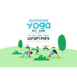 outdoor yoga event poster template vector image vector image