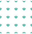 paw icon pattern seamless white background vector image vector image