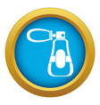 perfume icon blue isolated vector image vector image