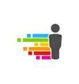 pixel art people logo icon design vector image