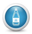 poison warning glossy icon vector image vector image