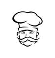 portuguese chef outline vector image