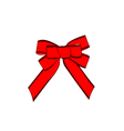 Red bow isolated on white Design element vector image vector image