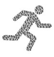 running man composition of dollar and dots vector image