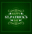 saint patrick day irish shamrock clover pattern vector image