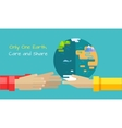 Saving Planet Earth Concept in Flat Design vector image vector image
