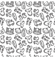 seamless pattern with baby objects Newborn vector image