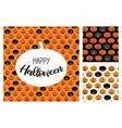 set halloween scary pumpkins pattern set vector image vector image