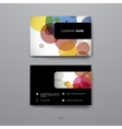 Set of Design Business Card Template in abstract vector image vector image