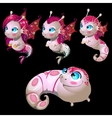 Set of four aliens male and female fish vector image vector image