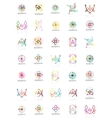 Set of linear logotypes geometric abstract vector image