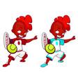 set of smug swarthy boys that play tennis vector image vector image