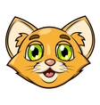 Smiling little kitten head 2 vector image vector image