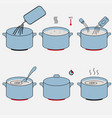 steps how to cook vector image