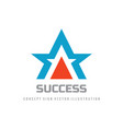 success - concept logo design abstract star shape vector image