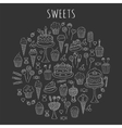 Sweets set icons hand drawn doodle vector image vector image