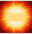 Technology squares with red flare burst EPS 10 vector image vector image
