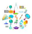 tenet icons set cartoon style vector image vector image