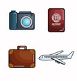 vacation related objects vector image vector image