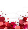 valentines day background with hearts of vector image