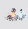 vr headset virtual reality glasses vector image