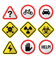 Warning signs - danger risk stress - flat design vector image vector image