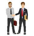 two businessmen shaking hands vector image