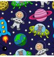Cartoon seamless space vector image